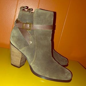 Ivanka Trump Brown Suede Ankle Boots